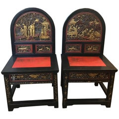 Pair of Chinese Ancestral Chairs