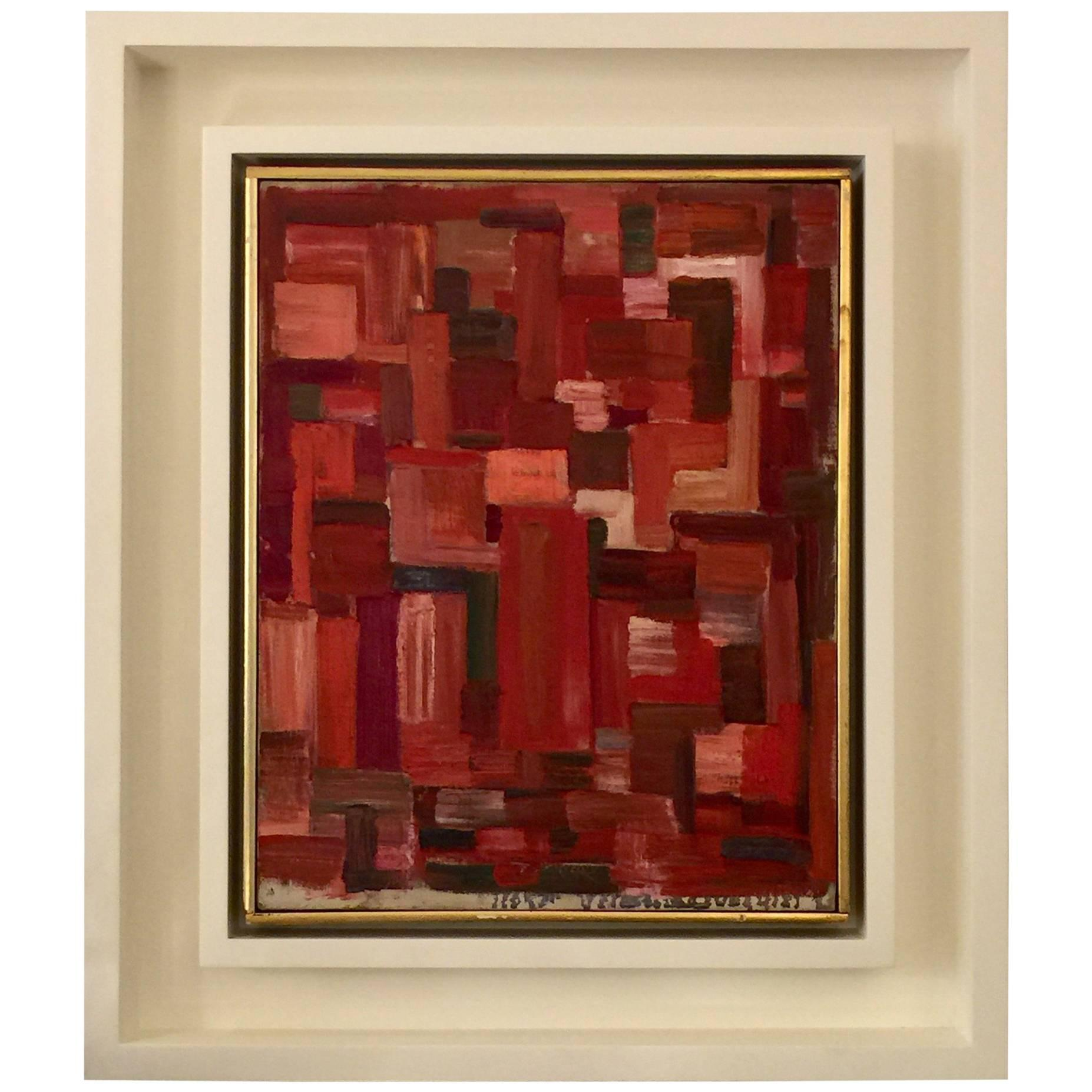 Signed Havers Oil on Canvas Framed Abstract Cubist Painting