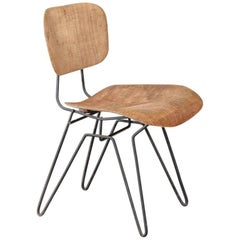 Hobart Wells Iron and Fiberglass Side Chair