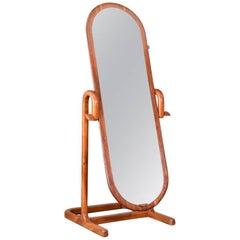 Studio Craft Walnut Cheval Mirror