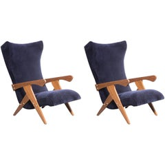 Pair of Brazilian Midcentury Armchairs by José Zanine Caldas