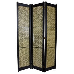 Mid Century Folding Screen by Tropicraft of San Francisco