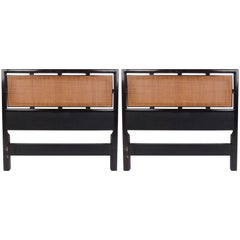 Pair of Vintage Modern Twin Size Headboards by Michael Taylor for Baker