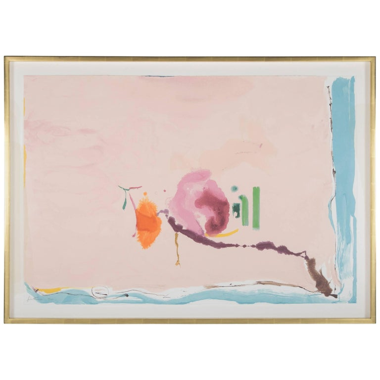 """Flirt"" Screenprint in Colors by Helen Frankenthaler For Sale"