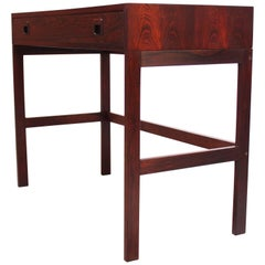 Diminutive Danish Modern Rosewood Desk by EJM Skive