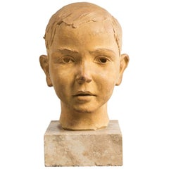 Terracotta Bust of a Youth, circa 1950