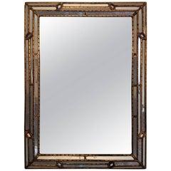 Italian Venetian Multifaceted Frame Mirror, circa 1950