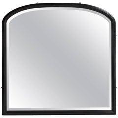 Arch Top Ebonised Mirror, circa 1900
