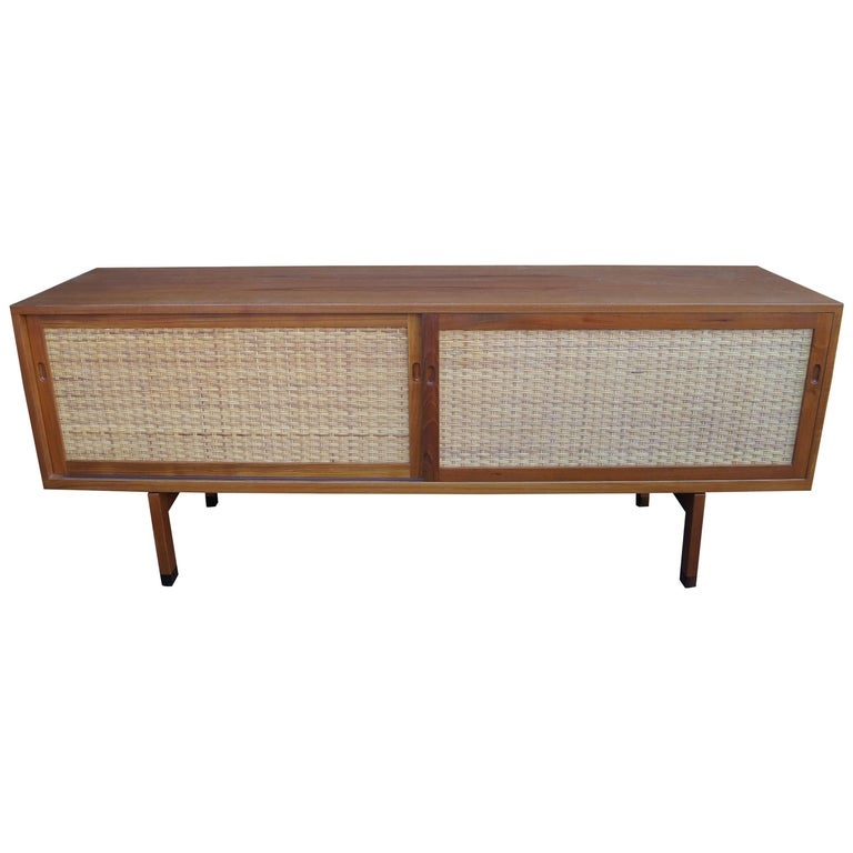 Oak and Rattan Sideboard, Model RY-26 by Hans Wegner for Ry Møbler