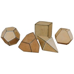 Five Cardboard Crystal Forms