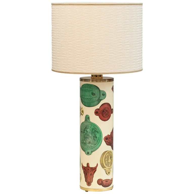 Huge Table Lamp by Piero Fornasetti