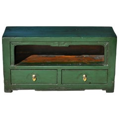 Small Antique Green Chinese Altar Table