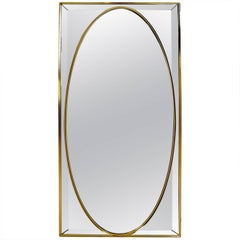 Decorative Mirror on Mirror Attributed to Labarge