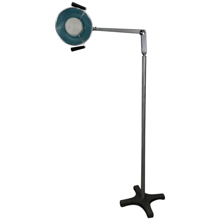 Midcentury Diminutive Surgical Floor Lamp by Burton For Sale