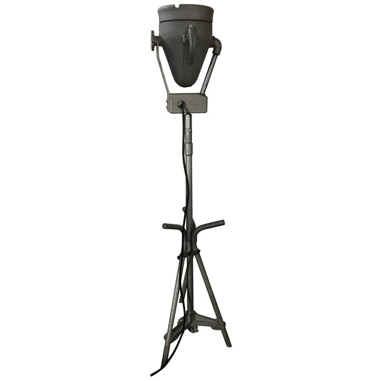 Industrial Cast Aluminum Adjustable Floor Lamp by Pyle Lighting, Buck Rogers
