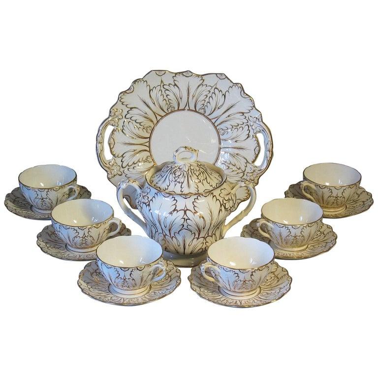English Porcelain Part Tea Service, circa 1820-1830 For Sale