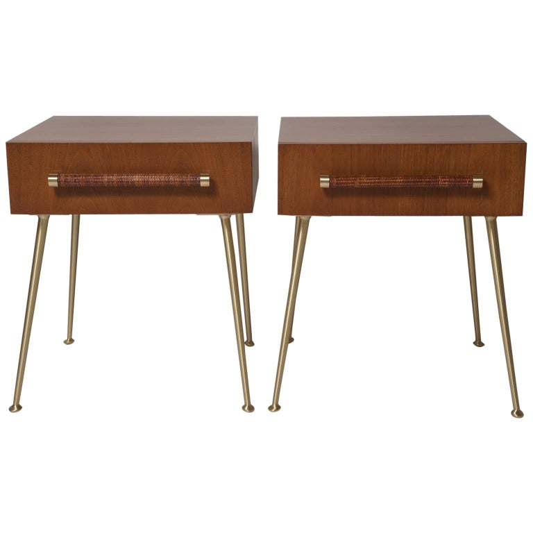 Fully Restored End Tables or Nightstands by T.H. Robsjohn-Gibbings for Widdicomb For Sale