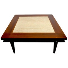 Square Marble Top Table by John Widdicomb