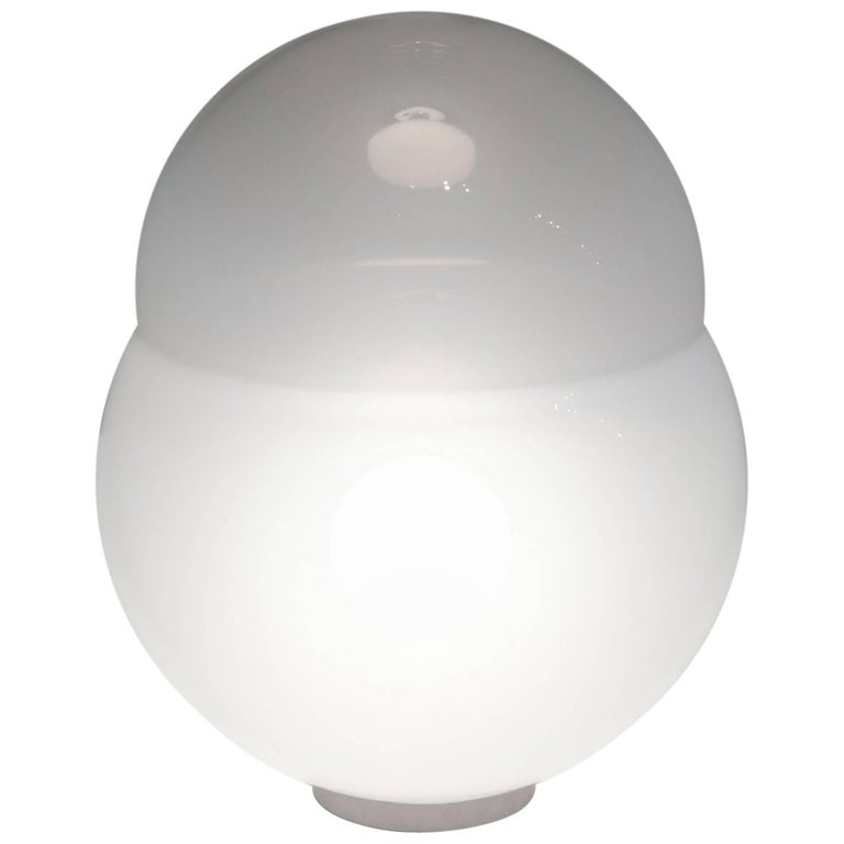 Alfredo Barbini Domed Sphere Table Lamp in Sfumato Murano Glass, circa 1970 For Sale