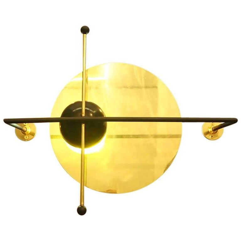 LMN Brass and LED Wall Sconce by Nomade Atelier For Sale