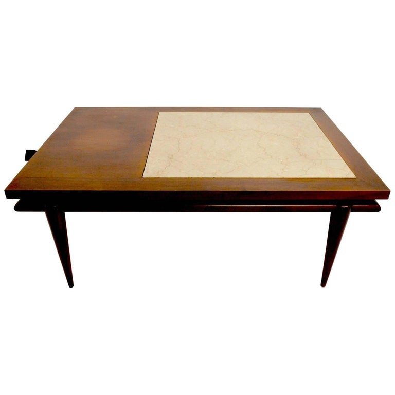 Marble top end coffee table by john widdicomb for sale at for Marble table tops for sale