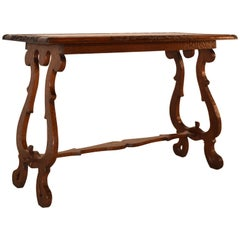 19th Century English Oak Carved Table