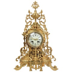 Antique French Gilt Bronze Clock by A D Mougin