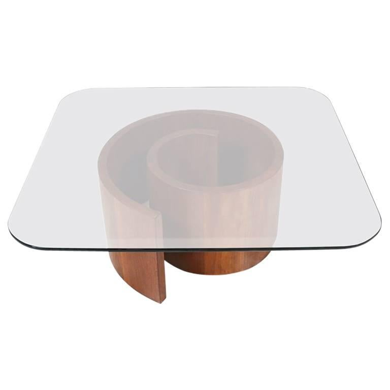 "Vladimir Kagan ""Snail"" Coffee Table for Selig"