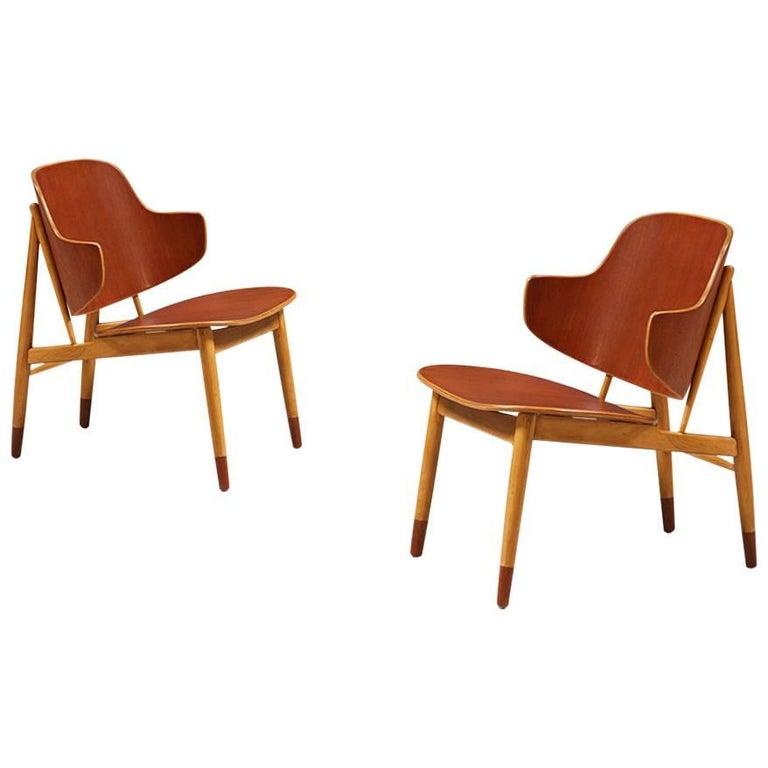 Ib Kofod-Larsen Shell Chairs for Christiansen & Larsen For Sale