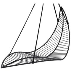 Leaf Hanging Swing Chair Modern Steel In/Outdoor 21st Century Black
