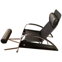 Beautiful Armchair with Pouf, Design Jean Prouvè 1980, Tecta Production
