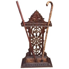Cast Iron Victorian Period Umbrella/Stick Stand Probably by Coalbrookdale