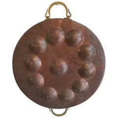 Early 20th Century Dutch Copper Mini Pancakes Pan