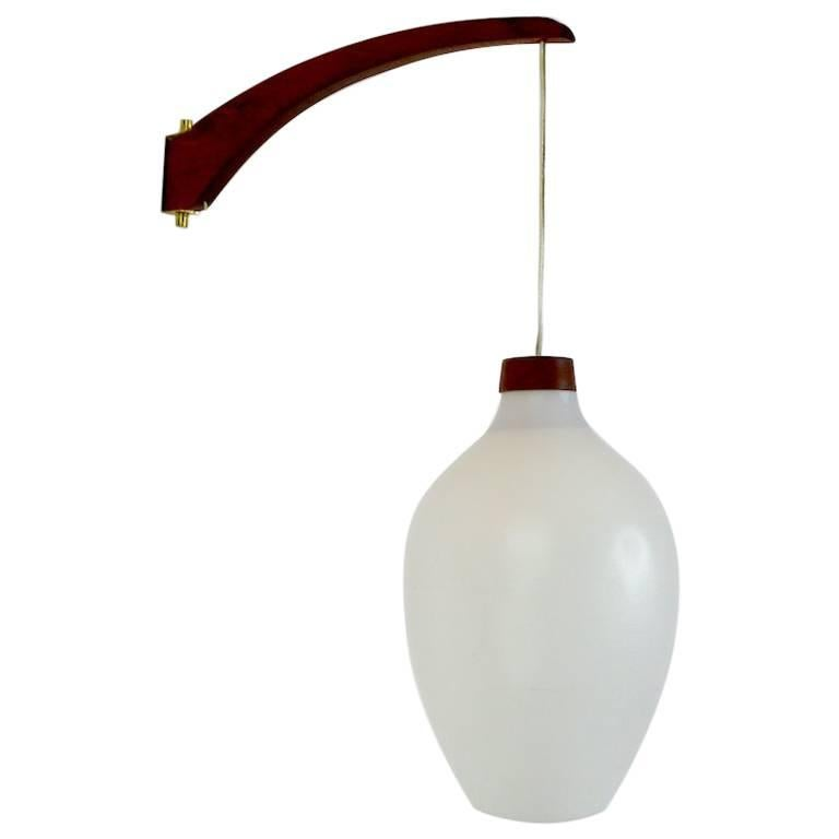 Luxus Wall Sconce with Frosted White Shade For Sale