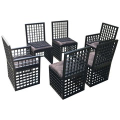 "Set of Six ""Grid"" Chairs by Cy Mann"