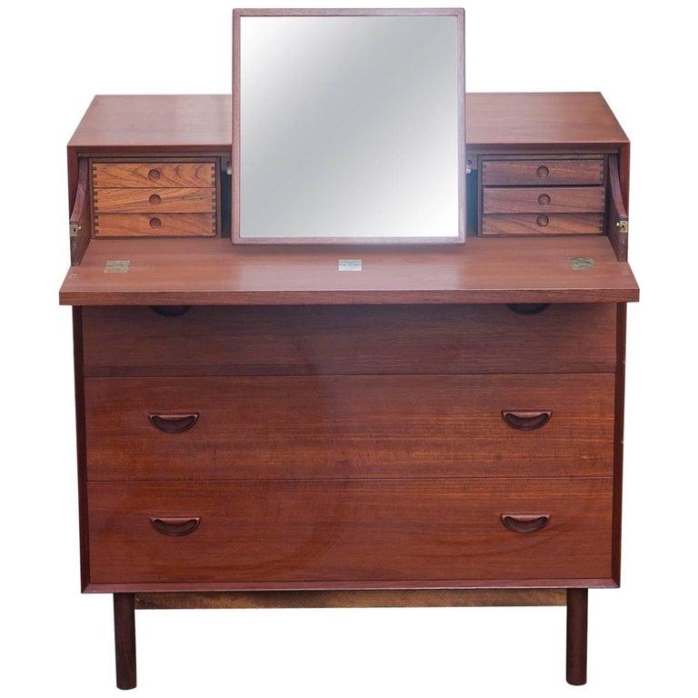 Peter Hvidt Teak Vanity Secretary Dresser