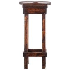 19th Century Oak and Pine Shop Stool