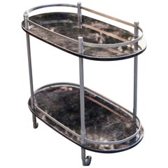 Anthracite Aldo Tura Bar Serving Cart