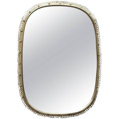 Huge Josef Frank Mirror in Brass by Svenskt Tenn in Sweden