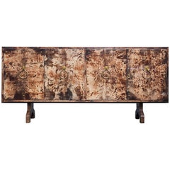 Fabulous Aldo Tura Brown Goatskin Sideboard