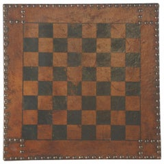 Early 20th Century Leather Games Board