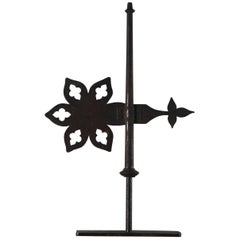 Late Victorian Copper Banner Weathervane