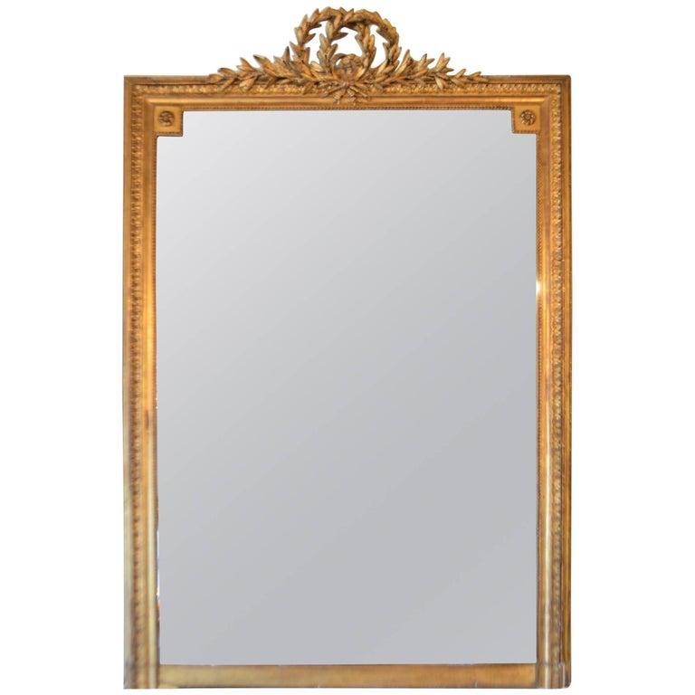 19th Century Louis XVI Style Gilded Mirror