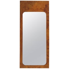 Milo Baughman for Lane Olive Wood Mirror Mid-Century Modern