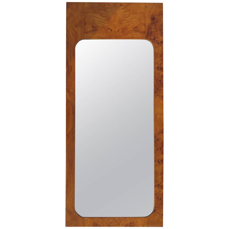 Roland Carter for Lane Olive Wood Mirror Mid-Century Modern For Sale
