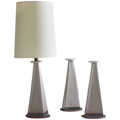 Barnegat Lamp, Ceramic Sculptural Table Lamp by Dumais Made