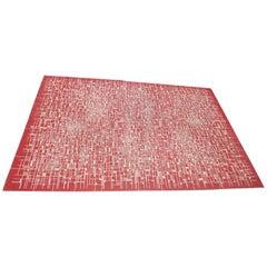Geometric Modernist Carpet, Midcentury