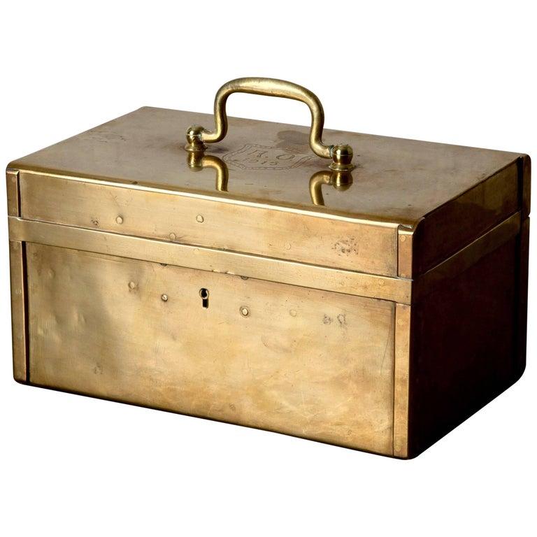 Box Decorative Brass Swedish, 20th Century, Sweden
