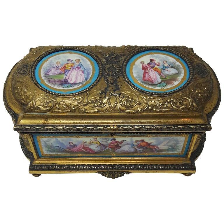 19th Century Sevres Casket For Sale