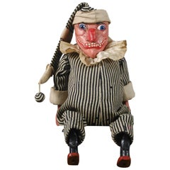 Late 19th Century Wood Carved Mr Punch Puppet